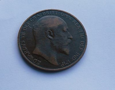 1904 Edward VII Penny, Good Condition.