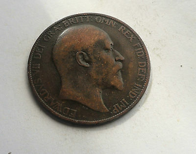 Edward VII Penny 1907, Good Condition