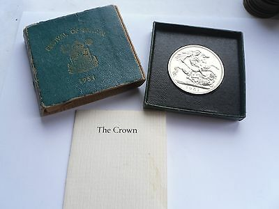 Proof 1951 Festival of Britain Crown, Green Boxed, George VI, A1 Condition.