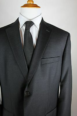 Tasso Elba Charcoal Gray Suit Mens Size 44R (38x30) Wool Cashmere