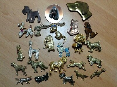 24 DOG PINS BROOCH SCOTTIE LABRADOR TERRIER POODLE SPANIEL WILLsell INDIVIDUALLY