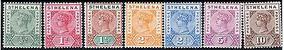 St Helena 1890 Sg46 - Sg52 ½d - 10d. SET of 7  FRESH  & VERY  LIGHTLY M/MINT