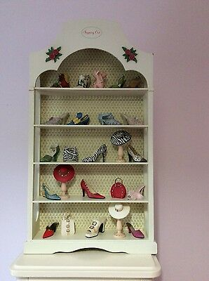 Minature Collector Shoes, hats, bags, shelving,Just the Right Shoe