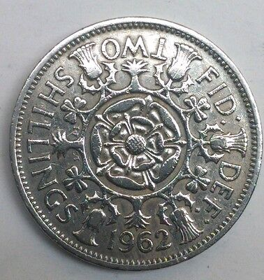1962 Qeii Florin/2 Shilling Coin