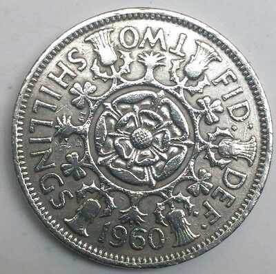 1960 Qeii Florin/2 Shilling Coin
