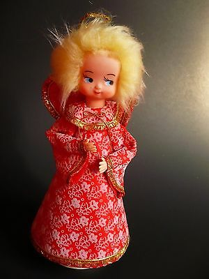 """Vintage Musical Rotating Angel Plays  'Silent Night' Made in Japan 10"""" tall"""