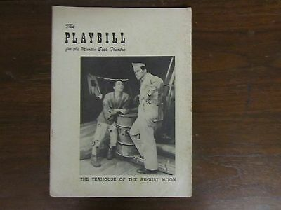 """1954 """"teahouse Of The August Moon"""" Playbill - Martin Beck Theatre Broadway"""