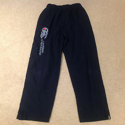 Unisex Navy Canterbury Of New Zealand Tracksuit Bottoms Age 10 Years