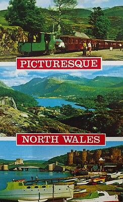 Wales ,picturesque North Wales Multi-View Unused Postcard  From Collection M20