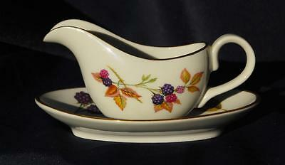 Royal Worcester Evesham Small Sauce/Cream Boat and Stand Excellent condition (2)