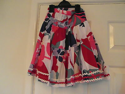 Monsoon used but immaculate a size 4-6yrs and multi in colour lined full skirt