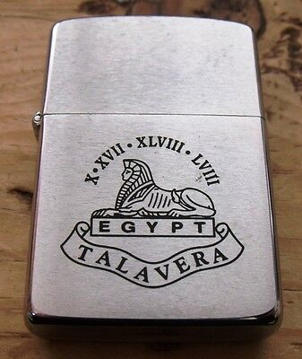 1987 Lincolnshire Regiment Egypt Talavera Zippo Lighter