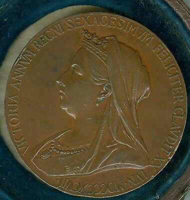 1897 Queen Victoria Diamond Jubilee Large Bronze Medal by Royal Mint, De Saulles