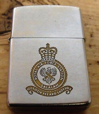 1975 Royal Air Force Station Salalah (Oman) Zippo Lighter Used