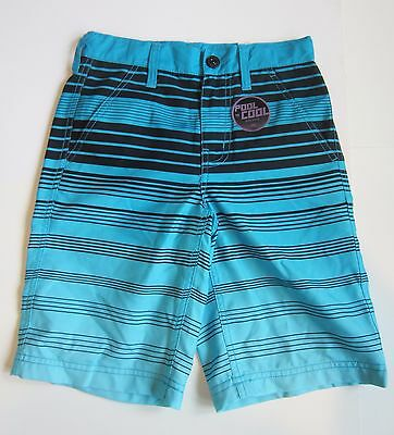 NWT Brothers by Justice Boys Swim Trunks Blue Striped Size 8 Board Shorts