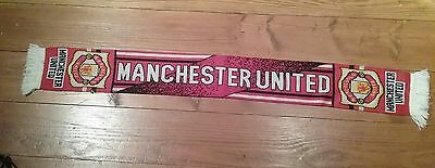 MANCHESTER UNITED FOOTBALL SCARF , FAB CONDITION . Great Christmas present .