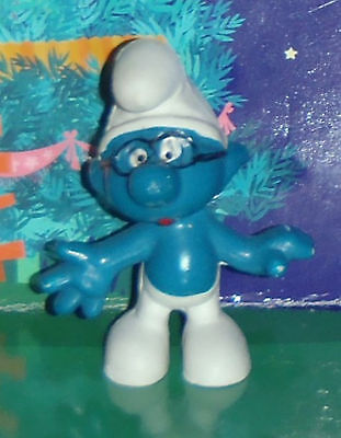 Vintage Rare Brainy Smurf Wearing Black Glasses 1969 Smurf Lot