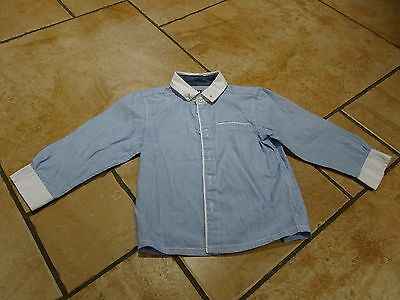 Matalan blue long sleeve shirt to fit 12-18 month old baby boy