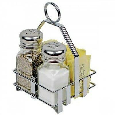 Winco WH-7 Shaker and Packet Holder, Chrome Plated