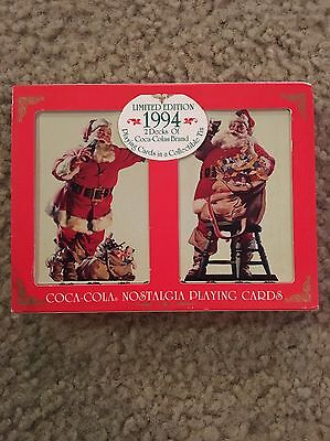 1994 Coca Cola Playing Cards, New In Box