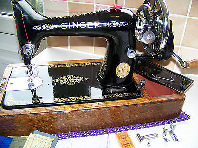 Superb 1939 Singer 99K Semi Industrial Hand Sewing Machine,7Mm Upholstery Fabric