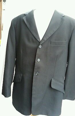 Mears Show Jacket Size 46 Approx Black Light To Med Weight Mens Gents