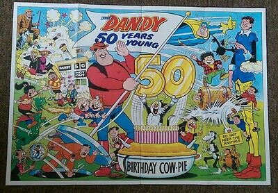 THE DANDY GIANT SOUVENIR POSTER (The Comic That's 50 Years Young in 1987)