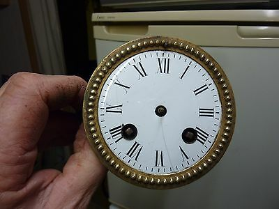 Antique French Clock Striking Movement & Dial - Spares - Repair (Rp1)