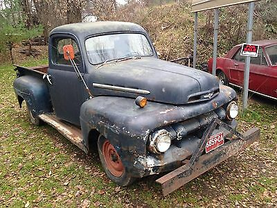 1951 Ford Other Pickups Standard Cab 1951 Ford F-1 Pickup Truck Sanford and Son Style Original Barn Find