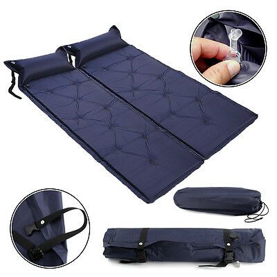 Blue Self Inflating Camping Roll Mat /Pad Inflatable Bed Sleeping Mattress +Bags