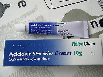 **aciclovir 5% Cream** Large 10G Tube**