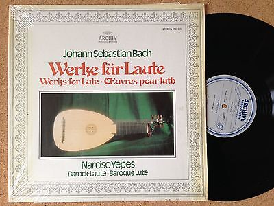 2533 351 Bach/Yepes Werke Für Laute Works For Lute Œuvres Pour Luth ARCHIV