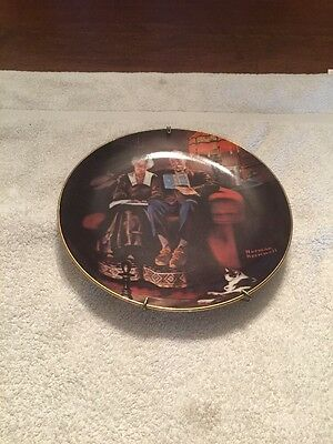 Norman Rockwell Evening Ease 1854 collectible plate