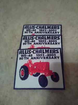 Allis Chalmers Wd-45  50Th Anniversary 1953 - 2003 Patches