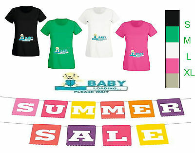 New T-shirt Peek a Boo Baby LOADING MATERNITY Clothes PREGNANCY TOP SHOWER GIFT