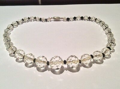 Antique clear crystal necklace