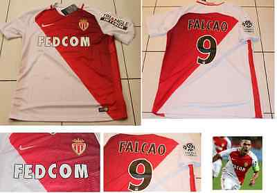 AS Monaco FALCAO Home shirt 2016 2017  White/Red Football Soccer COLOMBIA FRANCE