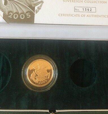 2005 Double Gold Proof Sovereign 22ct Gold