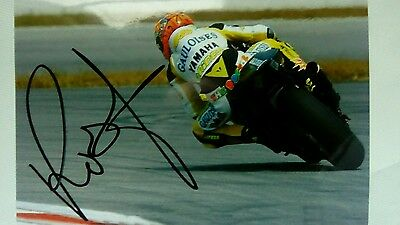 Valentino Rossi hand signed  12 x 8 photograph testing Gauloise colours