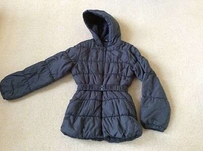 Girls Grey Quilted George Coat Age 12-13 years