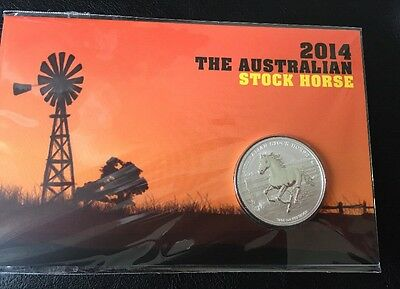 1oz 2014 Perth Mint Carded Stock Horse Silver Bullion Coin Mintage Of 1000