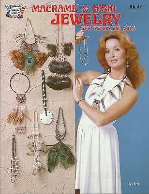 Macrame & Hishi Jewelry with Feather & Shells Vintage 1976 Pattern Book NEW