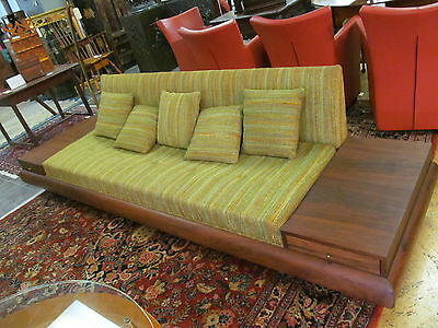 Couch - Adrian Pearsall Mid-Century Modern - Solid Teak Upholstered
