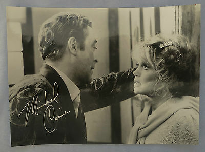 ***CHARMING Michael Caine hand signed photo Pisces English Cockney Actor