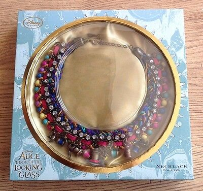 New In Box - Disney Alice Through The Looking Glass - Necklace Collier