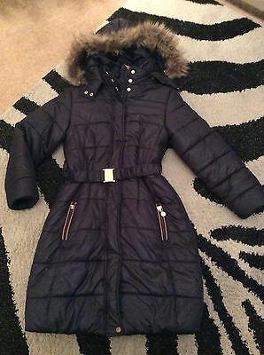 Girls designer Mayoral winter coat aged 9 years immaculate condition