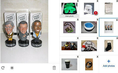 Collection of guinness memorabilia pocket pundits hat stress toys inflatable ref
