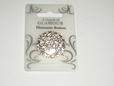 A Touch Of Glamour Gorgeous Large Diamante Buttons 2 New Packs 4Cm Diameter