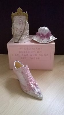 Avon Victorian Collection hat bag and shoe set three