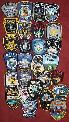 Mixed Lot No.2 of 27 different US/Int. Police Patches  NEW!